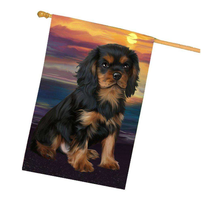 Cavalier King Charles Spaniel Dog House Flag HF308