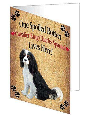 Cavalier King Charles Spaniel Spoiled Rotten Dog Note Card