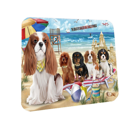 Pet Friendly Beach Cavalier King Charles Spaniel Dogs Coasters Set of 4 CST54113