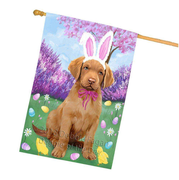 Chesapeake Bay Retriever Dog Easter Holiday House Flag FLG49063