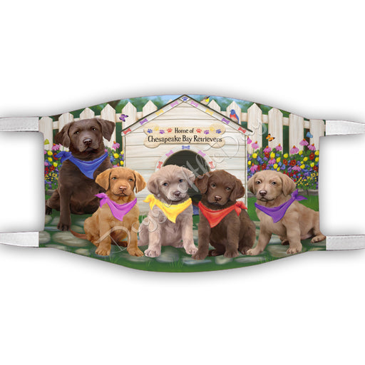 Spring Dog House Chesapeake Bay Retriever Dogs Face Mask FM48787