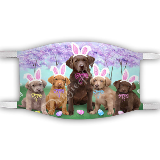 Easter Holiday Chesapeake Bay Retriever Dogs Face Mask FM49590