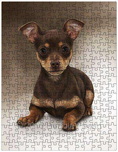 Chihuahua Dog Art Portrait Print 252 Pc. Puzzle with Photo Tin