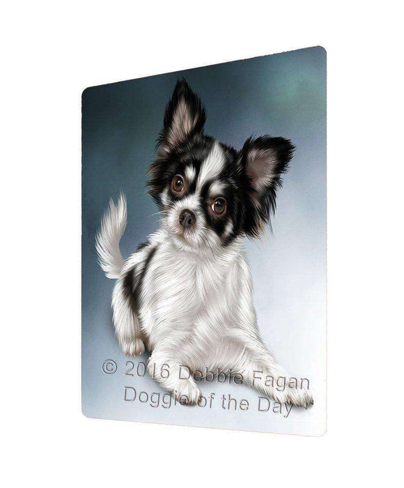 Chihuahua Dog Art Portrait Print Woven Throw Sherpa Plush Fleece Blanket