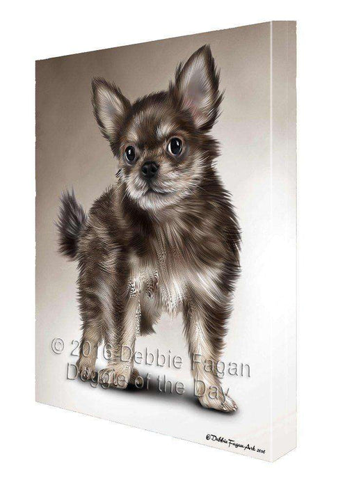 Chihuahua Dog Painting Printed on Canvas Wall Art