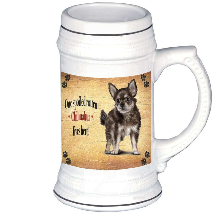 Chihuahua Puppy Spoiled Rotten Dog Beer Stein