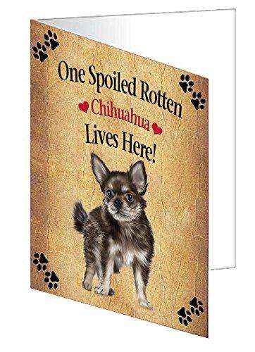 Chihuahua Puppy Spoiled Rotten Dog Greeting Card