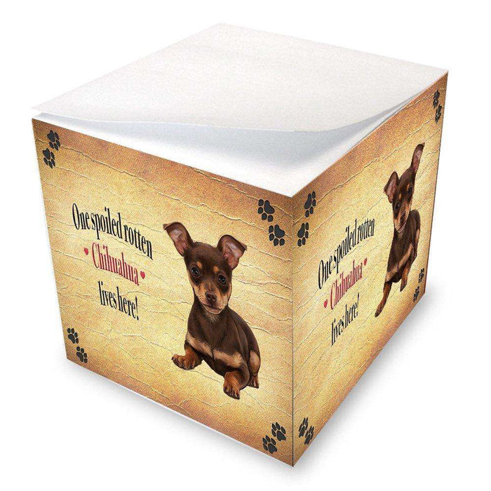 Chihuahua Spoiled Rotten Dog Note Cube