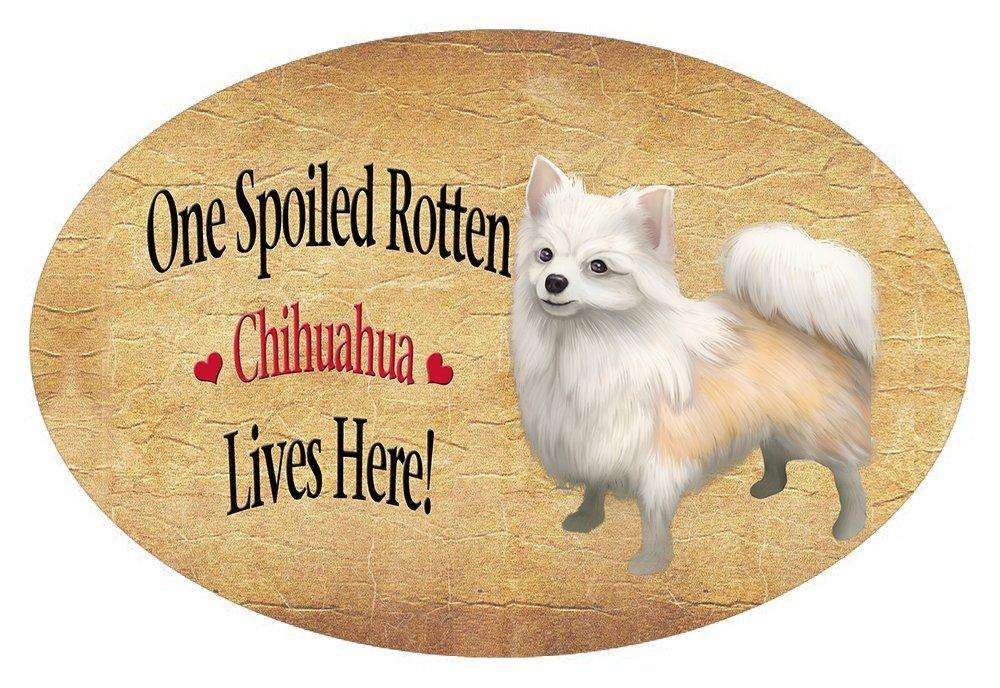 Chihuahua Spoiled Rotten Dog Oval Envelope Seals