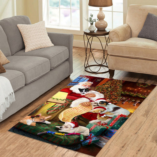 Santa Sleeping with Chihuahua Dogs Area Rug