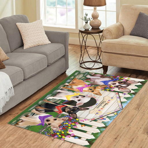 Spring Dog House Chihuahua Dogs Area Rug