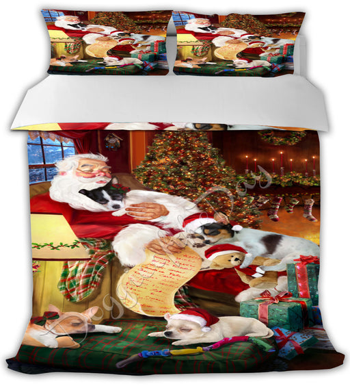 Santa Sleeping with Chihuahua Dogs Bed Duvet Cover DVTCVR49568