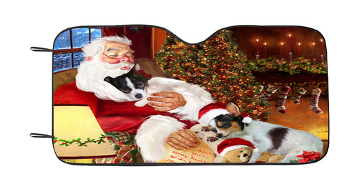 Santa Sleeping with Chihuahua Dogs Car Sun Shade