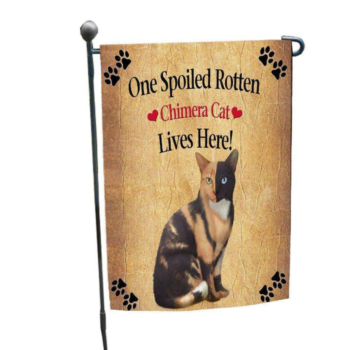 Chimera Spoiled Rotten Cat Garden Flag