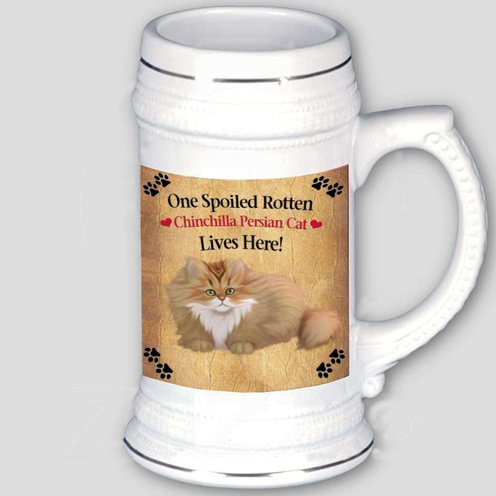 Chinchilla Persian Spoiled Rotten Cat Beer Stein