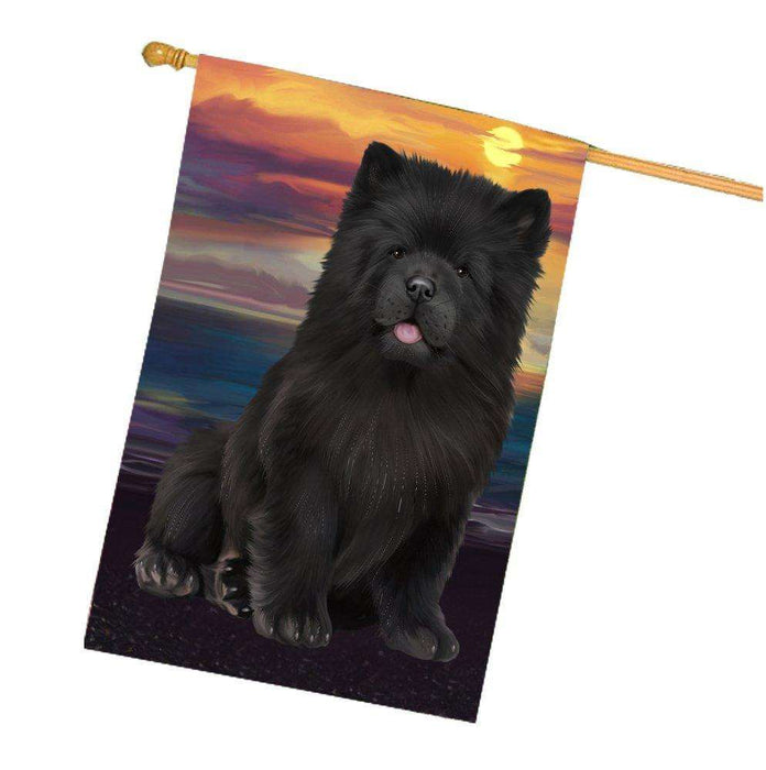 Chow Chow Dog House Flag HF320