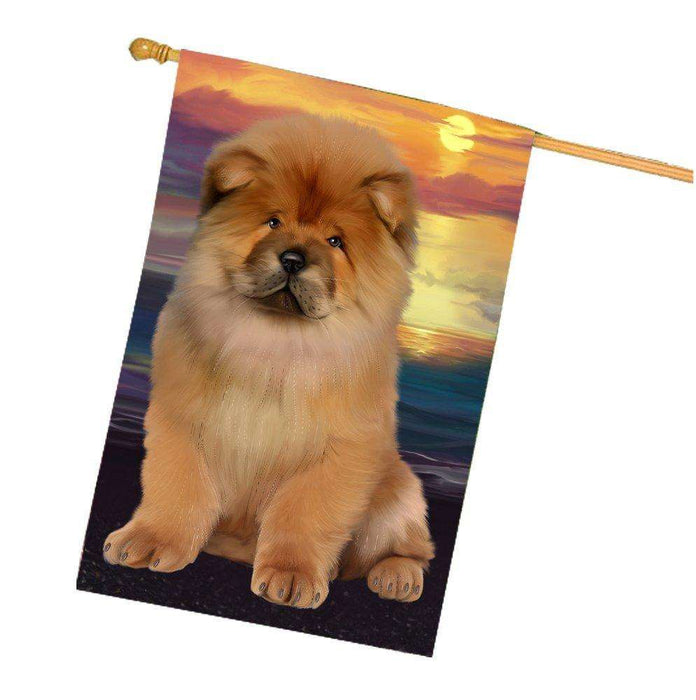 Chow Chow Dog House Flag HF322