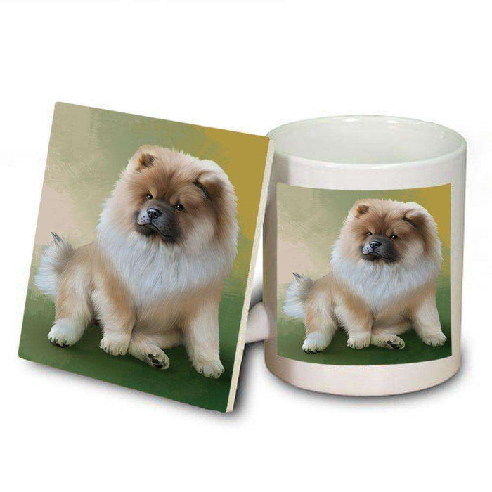 Chow Chow Dog Mug and Coaster Set