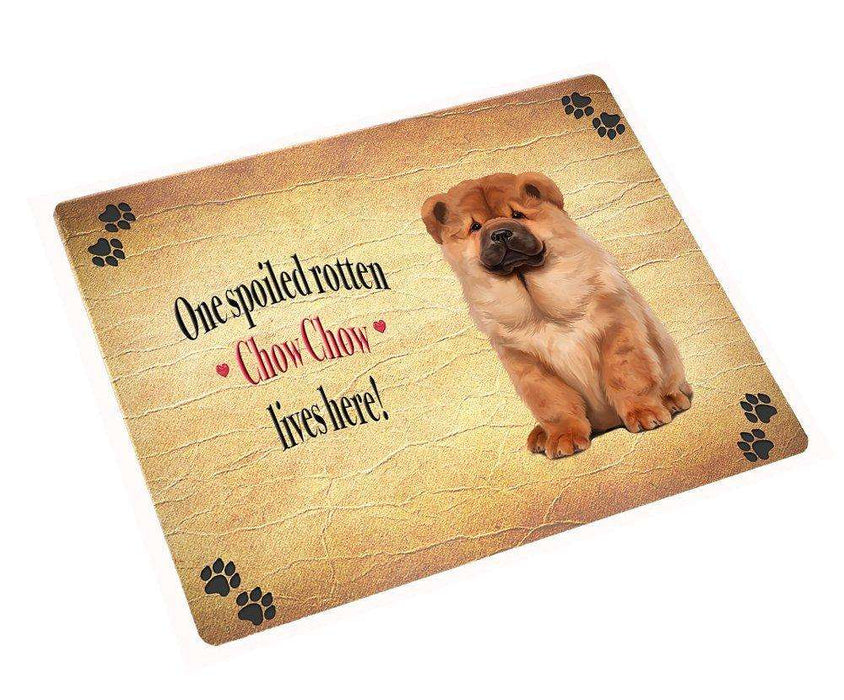 "Chow Chow Spoiled Rotten Dog Magnet Mini (3.5"" x 2"")"