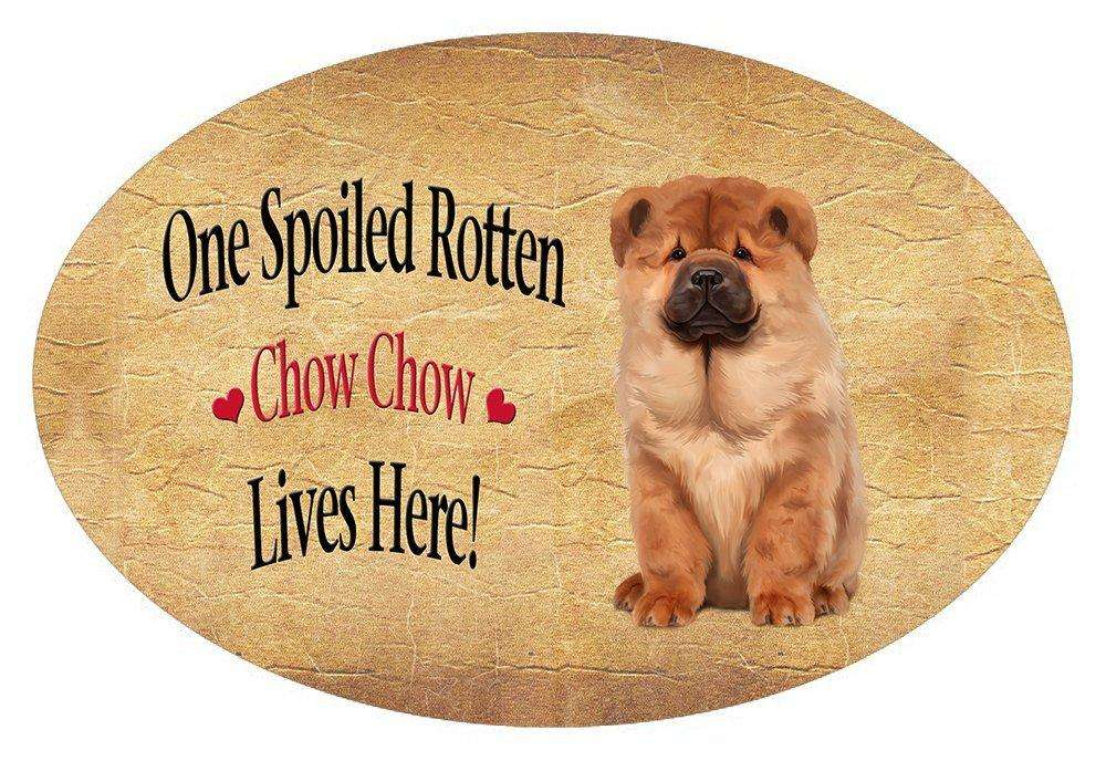 Chow Chow Spoiled Rotten Dog Oval Envelope Seals