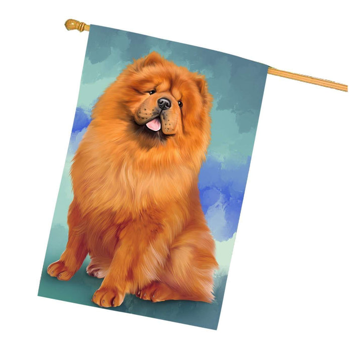 Chow Chows Dog House Flag