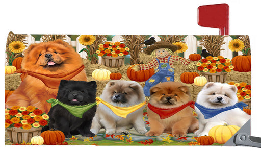 Magnetic Mailbox Cover Harvest Time Festival Day Chow Chows Dog MBC48034