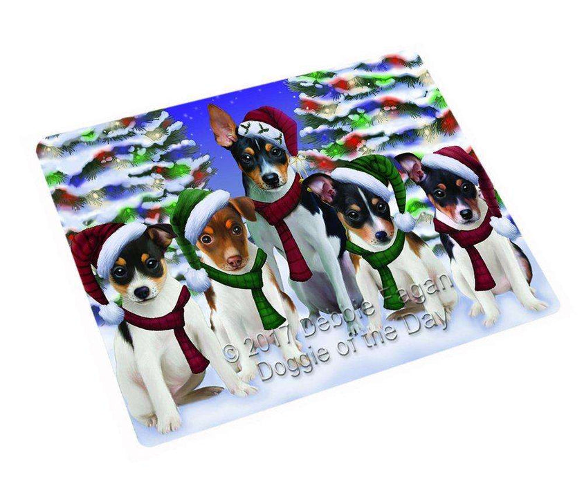 Christmas Happy Holidays Rat Terrier Dog Family Portrait Cutting Board CUTB021