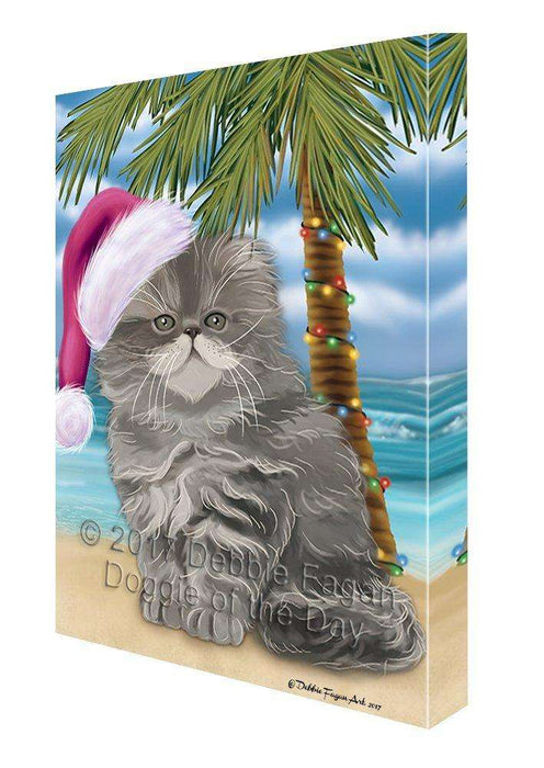 Christmas Happy Holidays Summer Time Persian Beach Dog Print on Canvas Wall Art CVS1638