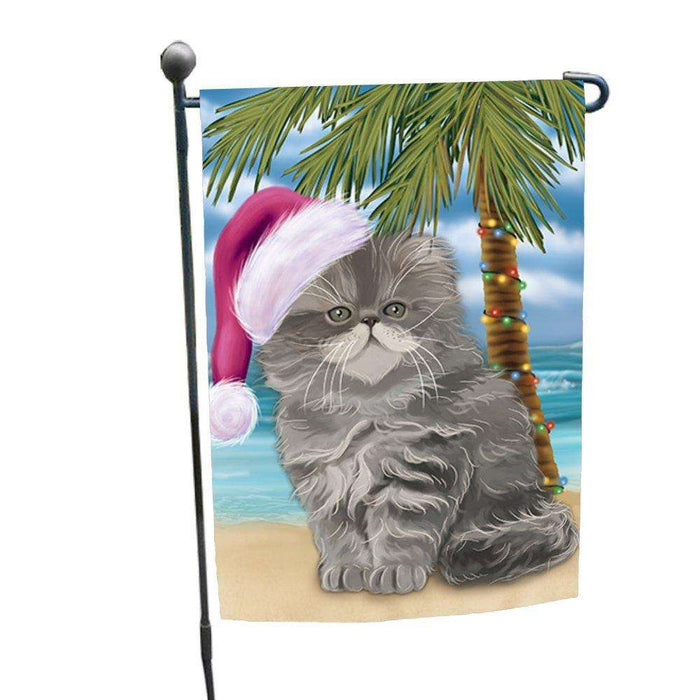 Christmas Holiday Summer Time Persian Cat Wearing Santa Hat Garden Flag FLG192