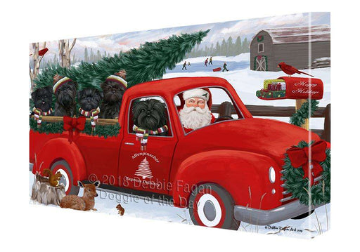 Christmas Santa Express Delivery Affenpinschers Dog Family Canvas Print Wall Art Décor CVS112823