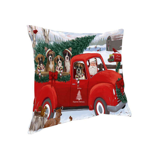 Christmas Santa Express Delivery Boxers Dog Family Pillow PIL76436