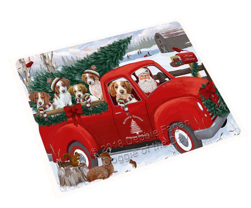 "Christmas Santa Express Delivery Brittany Spaniels Dog Family Magnet MAG69513 (Small 5.5"" x 4.25"")"