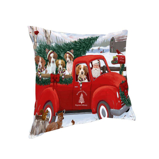 Christmas Santa Express Delivery Brittany Spaniels Dog Family Pillow PIL76440