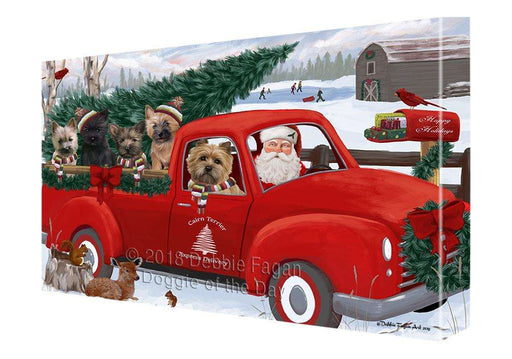 Christmas Santa Express Delivery Cairn Terriers Dog Family Canvas Print Wall Art Décor CVS113093