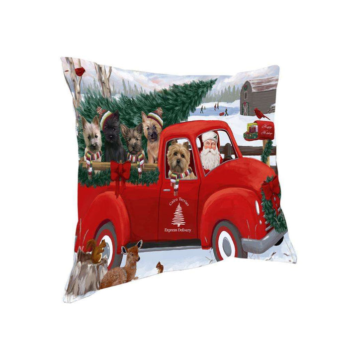 Christmas Santa Express Delivery Cairn Terriers Dog Family Pillow PIL76456