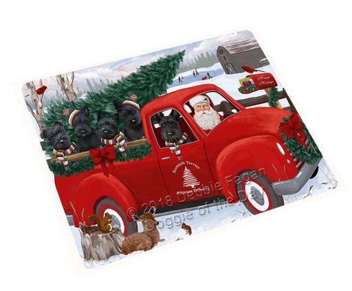 Christmas Santa Express Delivery Scottish Terriers Dog Family Cutting Board C69648