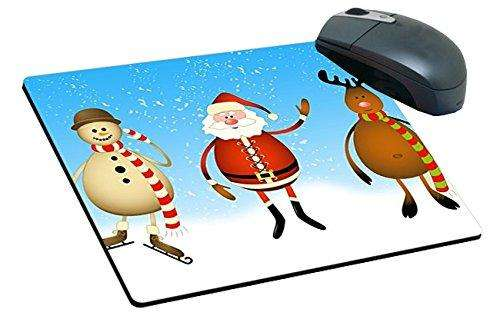 Christmas Santa, Snowman and Reindeer Mousepad