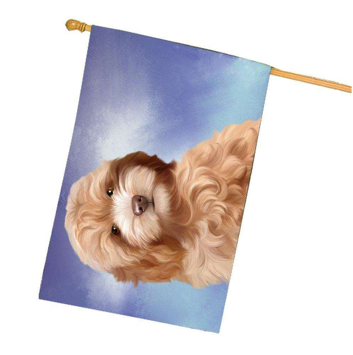 Cockapoo Dog House Flag