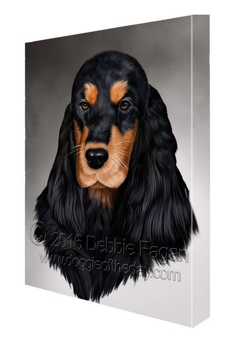 Cocker Spaniel Dog Art Portrait Print Canvas (10x12)