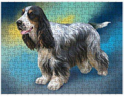 Cocker Spaniel Dog Puzzle with Photo Tin