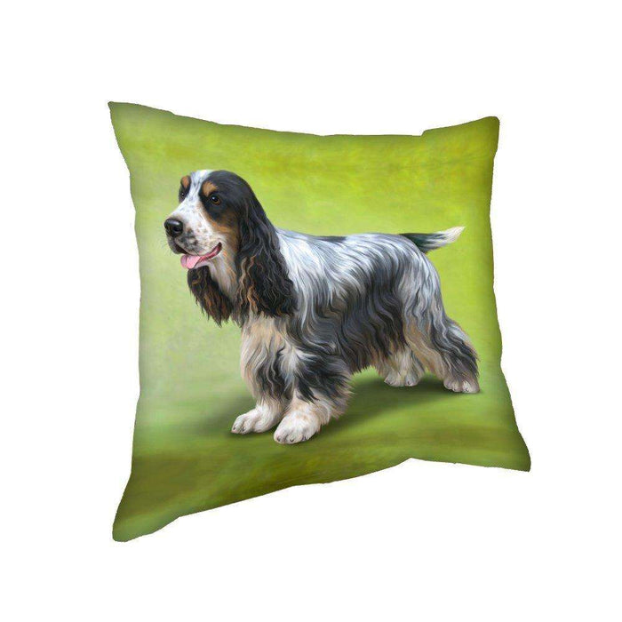 Cocker Spaniel Dog Throw Pillow