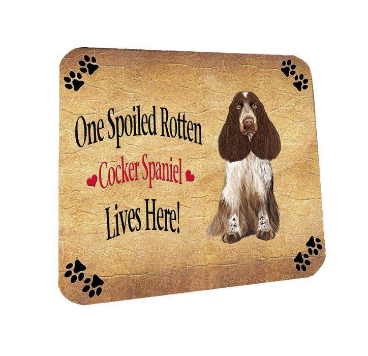 Cocker Spaniel Spoiled Rotten Dog Coasters Set of 4