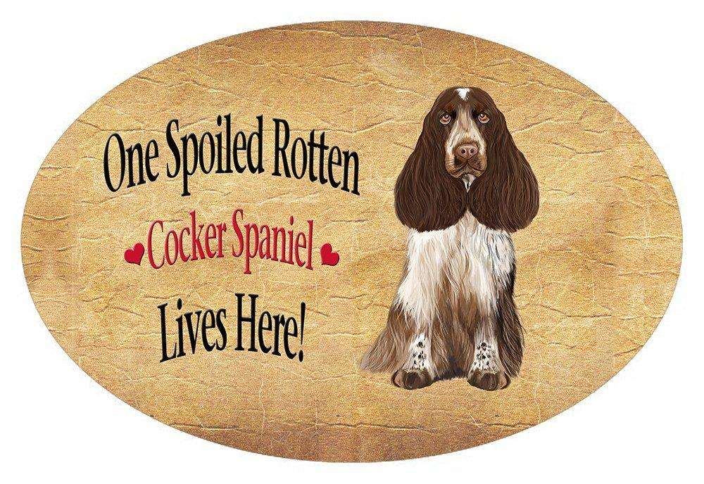 Cocker Spaniel Spoiled Rotten Dog Oval Envelope Seals