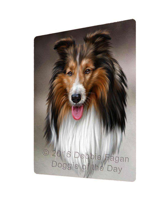 Collie Dog Art Portrait Print Woven Throw Sherpa Plush Fleece Blanket