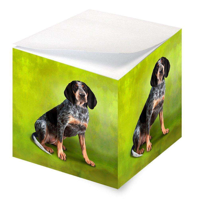 Coonhound Bluetick Dog Note Cube