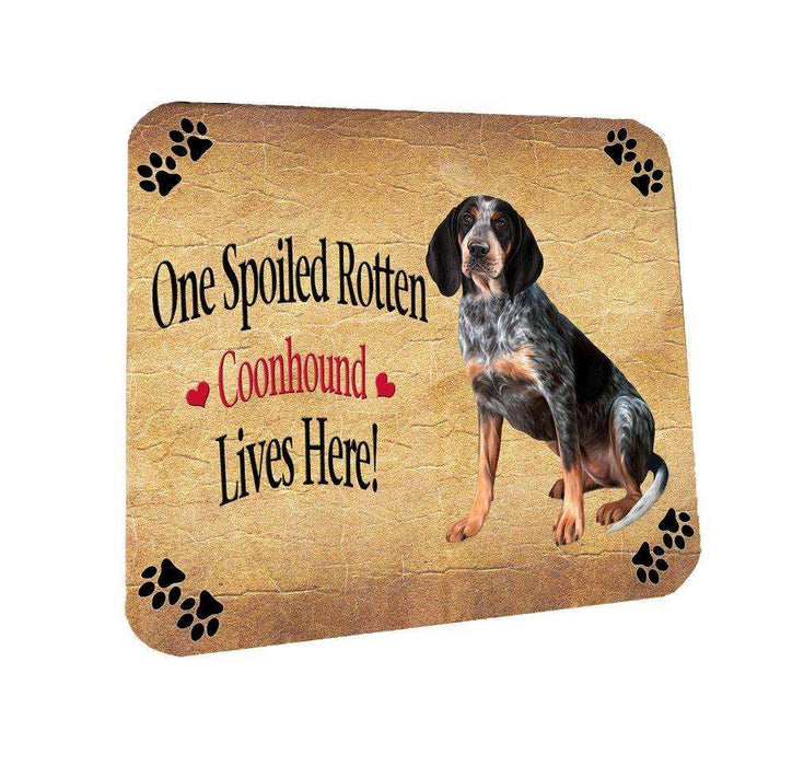 Coonhound Bluetick Spoiled Rotten Dog Coasters Set of 4