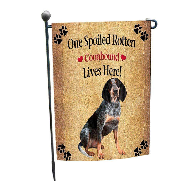 Coonhound Bluetick Spoiled Rotten Dog Garden Flag