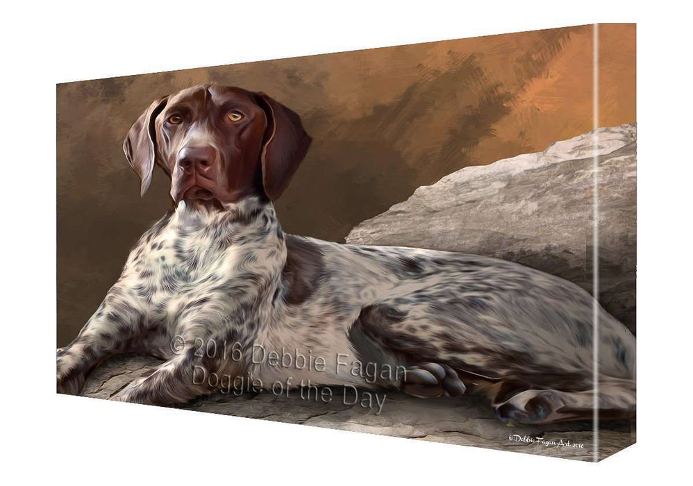 Coonhound Dog Painting Printed on Canvas Wall Art