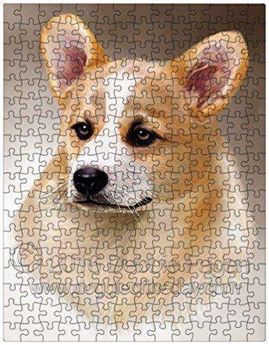 Corgi Dog Art Portrait Print 252 Pc. Puzzle with Photo Tin