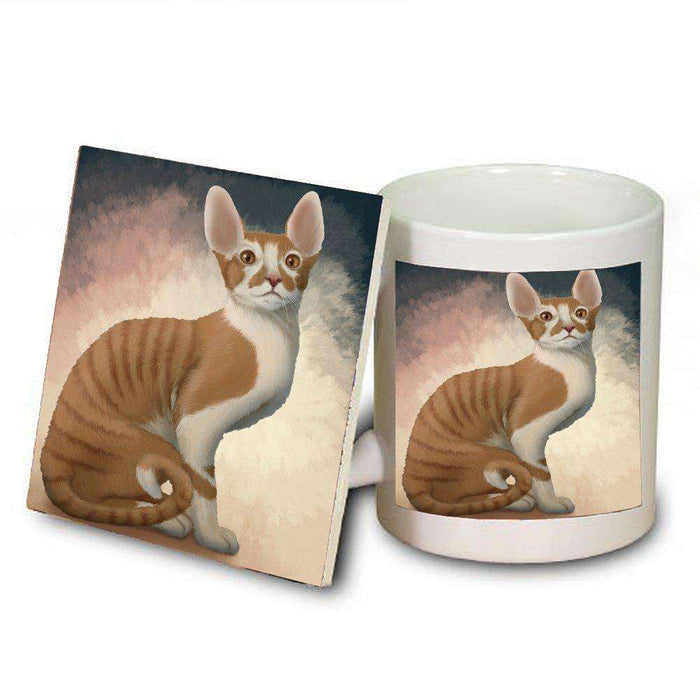 Cornish Red Cat Mug and Coaster Set